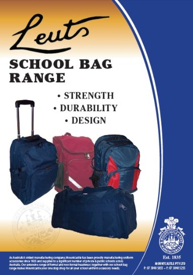 Leuts School Bag Range