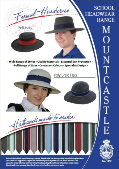 Mountcastle School Headwear Range